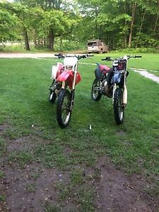 (REDUCED)Single or package deal 2013 crf250x 1997 cr125r