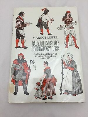 Costumes of Everyday Life : An Illustrated History of Working Clothes (1972 HC) - History Of Costumes