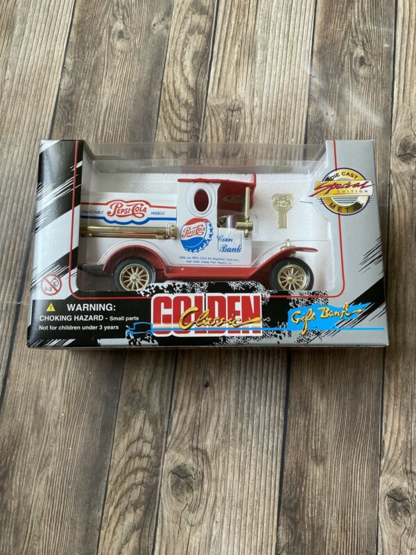 PEPSI COLA DELIVERY TRUCK GOLDEN CLASSIC DIECAST GIFT BANK SPECIAL EDITION
