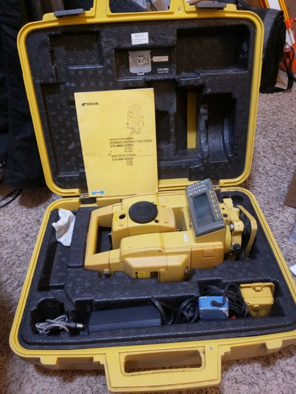 Topcon GTS-802A Robotic Total Station working fine.