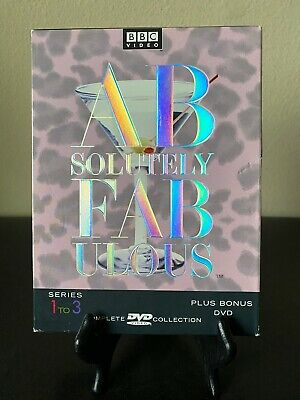 MINT! Absolutely Fabulous: Complete Series 1 to 3 BBC Plus Bonus DVD (4 DVD Set)