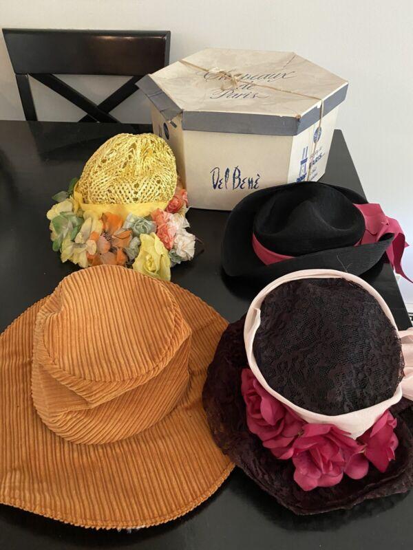 Lot Of Vintage Women's Hats