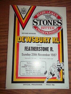 DEWSBURY v FEATHERSTONE  29/11/87