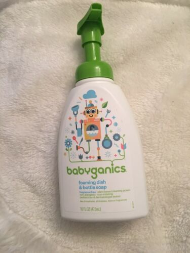 Babyganics Dish Dazzler Foaming Dish and Bottle Soap, Fragra