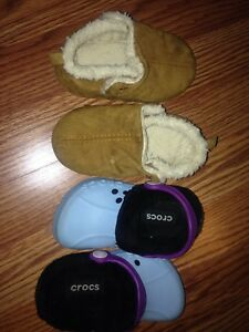Crocs 6/7T - blown suede 7/8T