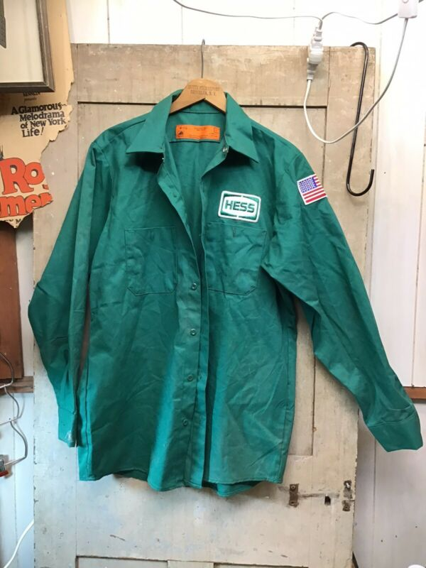 NOS Vintage HESS Truck Uniform Collared Shirt Size M - RG Green (A)