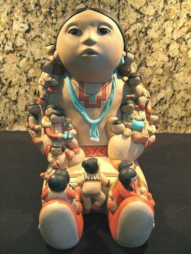 Vntg Navajo STORYTELLER Sculpture Clay Art Figurine Authentic * USA *