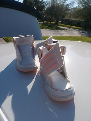 Kid Size 9k Addidas white And pink hwa 1y3001