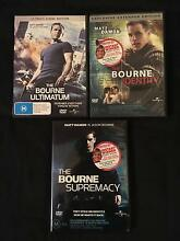 3x The Bourne DVD's Armadale Armadale Area Preview