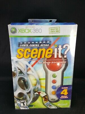 Scene It? Trivia Game with Four Wireless Controllers Or  Buzzers Xbox 360  for sale  Shipping to India