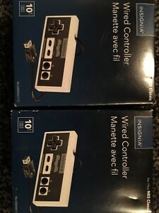 2xNES classic wired controllers