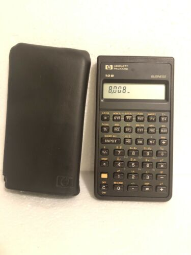 HP 10B Financial Calculator with protective cover 1987 USA Rare Vintage Calc.