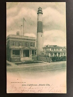 Used, Postcard Atlantic City NJ c1907 - Absecon Lighthouse for sale  Shipping to Canada