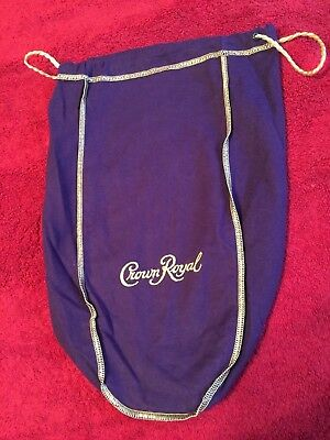 Crown Royal Purple   Gold Trim Bag  Large 9 X13 Free Shipping