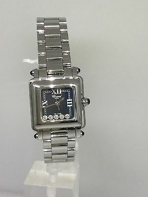 CHOPARD HAPPY SPORT SQUARE DIAMOND LADIES WATCH 27/8893-23 NEW! $8,690 RETAIL!!!