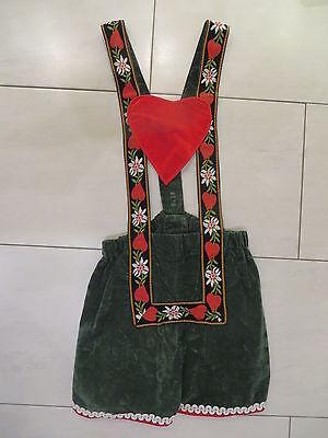 Damen Kostüm Karneval Fasching kurze Trachtenhose mit Herzen Oktoberfest - Gr - Kostüm Mit Kurzen Hosen