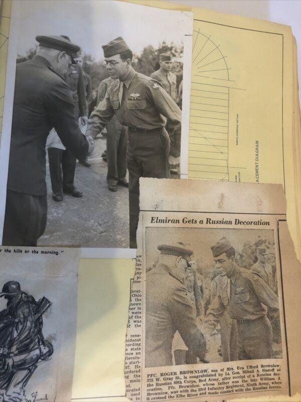 U.S. 36th Infantry Division Album Original Photo Maps Mail Money WW2 WWII