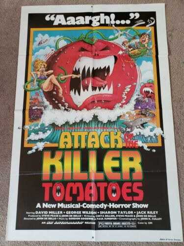 1978 ATTACK OF THE KILLER TOMATOES - Original One Sheet Movie Poster
