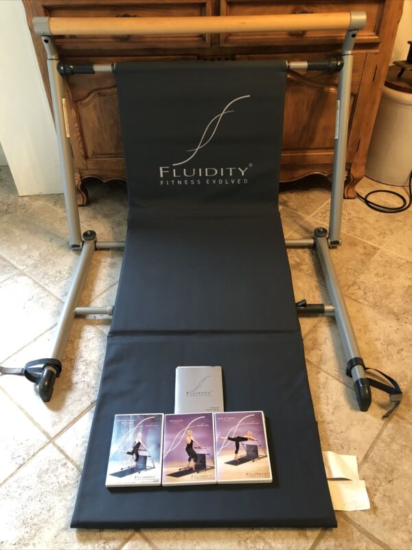 Fluidity Fitness Evolved Barre System Exercise Bar Plus 3 DVDs