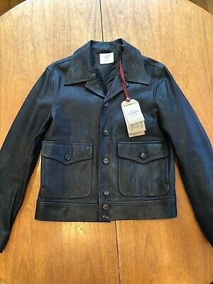 Beautiful NWT Kent & Curwen D Beckham Leather Biker Jacket Sz M $2465 Mr Porter