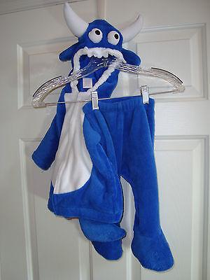 Gymboree Blue Baby/Child Monster Polyester Fleece 2 Pc Custume 6-12 mo.