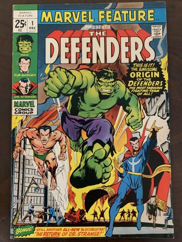 Marvel Feature #1 Defenders (Dec 1971, Marvel)