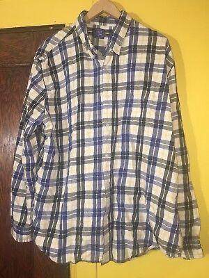 Le Tigre Vintage Flannel Plaid Button Up Shirt Mens Size XXL image