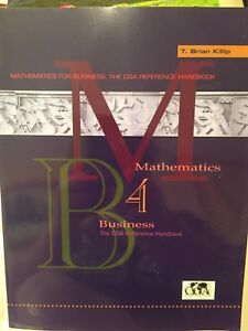 Mathematics for Business, CGA Reference Handbook.