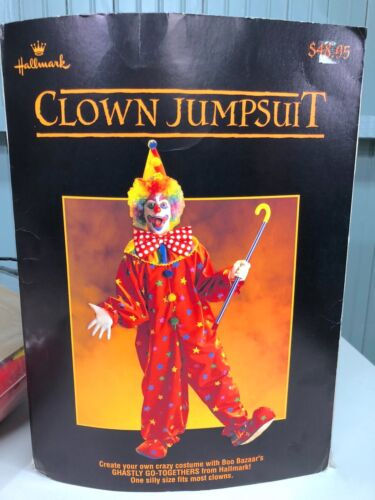 Hallmark Clown Jumpsuit Adult Halloween Costume One Size