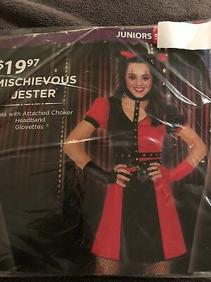 Halloween Costume Girl's  Mischievous Jester Juniors Small 5-7, or Medium 9-11](9 11 Halloween Costume)