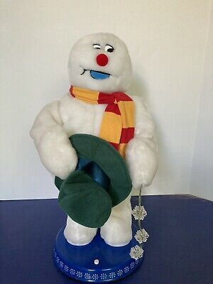 Gemmy Frosty The Snowman Christmas Animated Dancing Spinning Snowflake 100%works