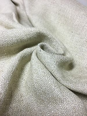 BEAUTIFUL CREAM CHENILLE UPHOLSTERY FABRIC 1.2 METRES