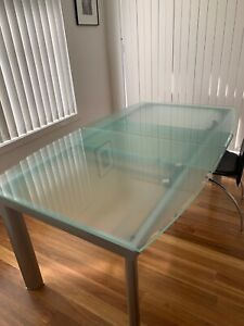 Glass Dining Table Extendable 170cm to 220cm