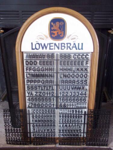NOS! Lowenbrau Beer Menu/Message Board Sign w/3 set