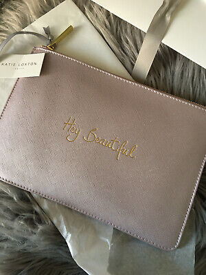 katie loxton pouch Clutch Bag Hey Beautiful Purple Pink Gold