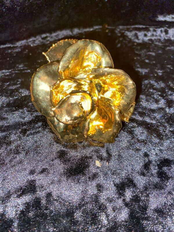 24K Gold Dipped Real Preserved Long Stem Red Rose Valentines Day Gift Love