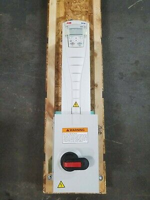 ABB ACH550-PDR-015A-4+E213 10HP 7.5kW 380-480V 15.4A 3PH HVAC Drive w/Disconnect