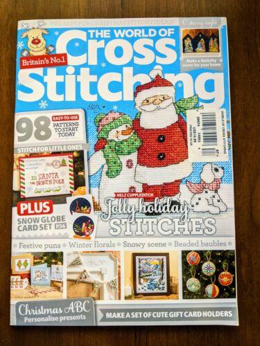 The World of Cross Stitching UK Magazine Christmas NEW