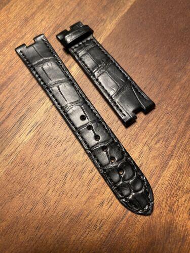 OMEGA Original Krokodil Armband schwarz für Constellation 18 auf 16 mm