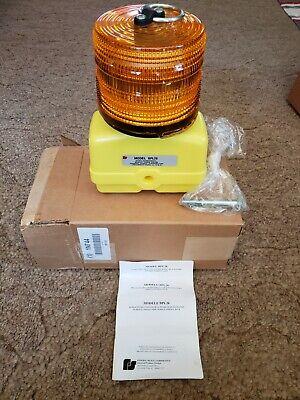 New Federal Signal 12 Vdc Battery Powered Warning Amber Light Bpl26