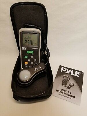 Pyle Plmt68 Light Meter Lux Foot Candles Bar Graph Measures Up To 400000 Lux