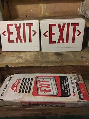 Vintage Lithonia Lighting Exit Sign