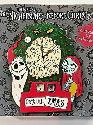 DAYS TILL CHRISTMAS COUNTDOWN Jack Sally JUMBO w/ EASEL NBC Disney pin LE 1000