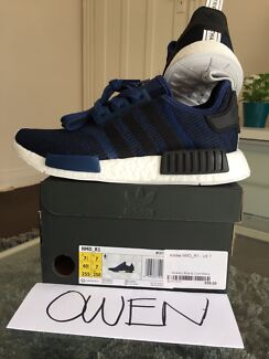 Adidas NMD R1 tech blue mens sneakers