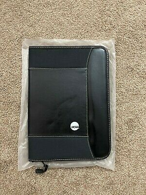 Official Ncaa Padfolio Leather Pu Double Zippered Business Organizer