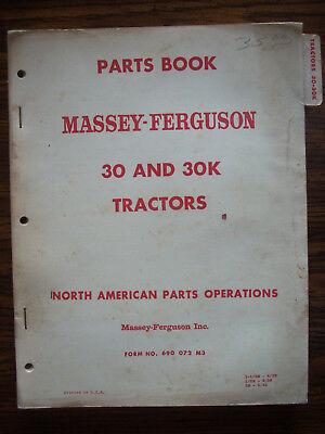 Massey Harris 30 30k Parts Manual