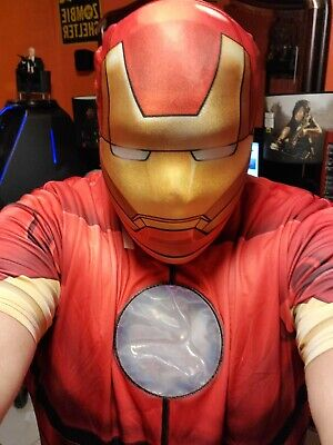 Costumes Plus Size (Ironman costume mens shirt plus size XXL 2 piece outfit NEW SHIP FAST)
