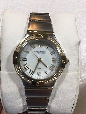 Anne Klein Women's Crystal & Stainless Watch Interchangeable Bezels 12/2217WMST