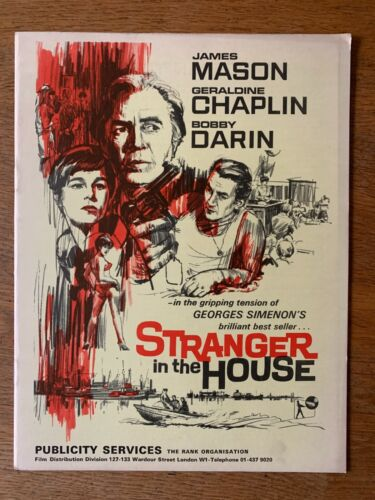 STRANGER IN THE HOUSE 1967 James Mason    - Original film campaign book