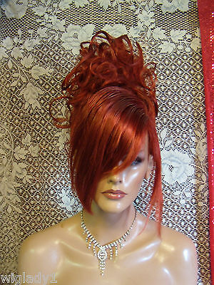 HALLOWEEN SPECIAL VEGAS GIRL WIGS PICK A COLOR SLEEK STYLISH UPDO CLASSY HOT FUN - Vegas Halloween Girls